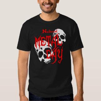 National Metal Day Skulls Tee Shirt