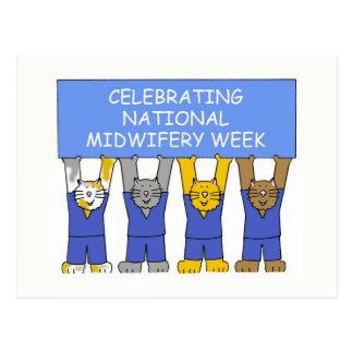 National Midwifery week. Postcard
