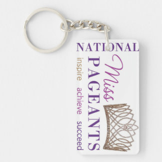 NATIONAL MISS PAGEANTS LOGO KEY CHAIN