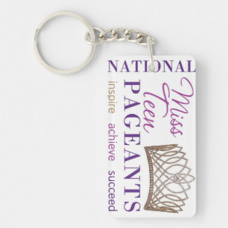 NATIONAL MISS TEEN PAGEANTS LOGO KEY CHAIN