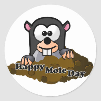 National Mole Day Classic Round Sticker