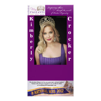 NATIONAL MRS PAGEANTS AUTOGRAPH CARD CUSTOM PHOTO CARD