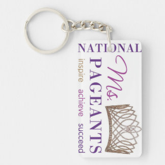 NATIONAL MS PAGEANTS LOGO KEY CHAIN
