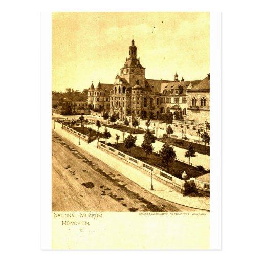 National Museum Munich Germany 1924 Vintage Postcard