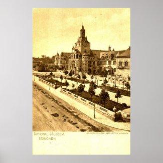 National Museum Munich Germany 1924 Vintage print