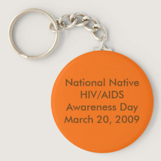 National Native HIV/AIDS Awareness Day Keychain