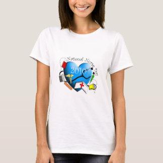 National Nurse Day Blue Heart Design T-Shirt
