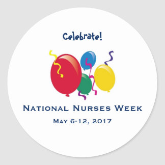 National Nurses Week 2017 Classic Round Sticker