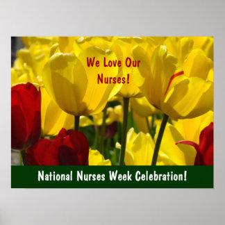 National Nurses Week Celebration! poster Tulips
