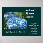 National Nurses Week poster Celebrations Add Text