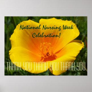 National Nursing Week Celebration poster thank you