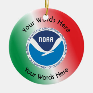 National Oceanic and Atmospheric Administration Ceramic Ornament