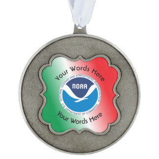 National Oceanic and Atmospheric Administration Pewter Ornament