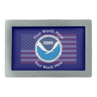 National Oceanic and Atmospheric Administration Rectangular Belt Buckle