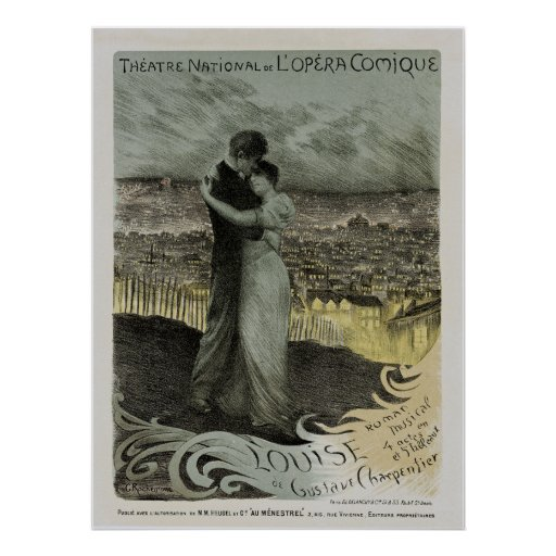 National Opera Comique Theater ~ Louise Poster