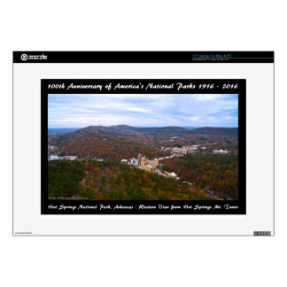 """National Park Anniversary Hot Springs Autumn View 15"""" Laptop Skins"""