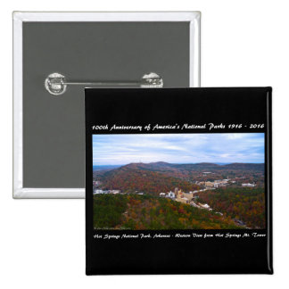 National Park Anniversary Hot Springs Autumn View Button