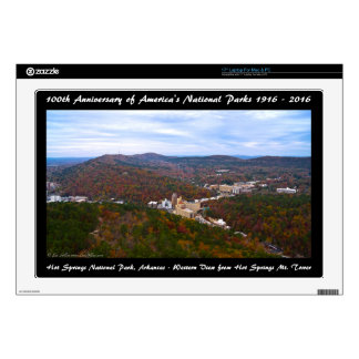 National Park Anniversary Hot Springs Autumn View Laptop Decal