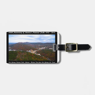 National Park Anniversary Hot Springs Autumn View Luggage Tag
