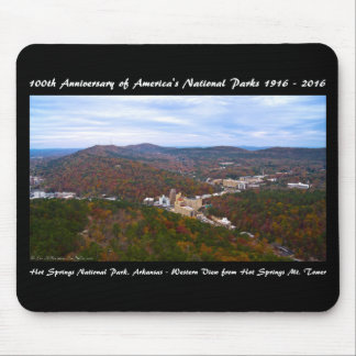 National Park Anniversary Hot Springs Autumn View Mouse Pad