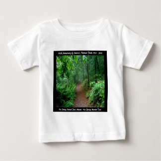 National Park Anniversary Hot Springs Mt Trail Baby T-Shirt