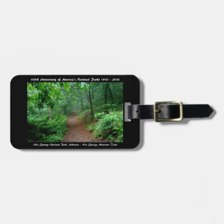 National Park Anniversary Hot Springs Mt Trail Luggage Tag