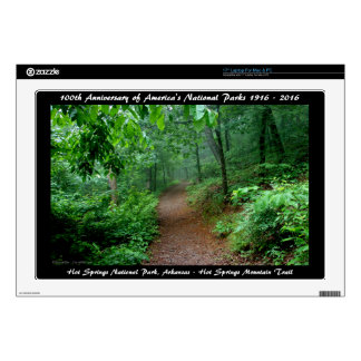 """National Park Anniversary Hot Springs Mt Trail Skin For 17"""" Laptop"""