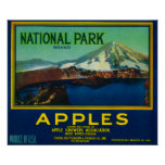 National Park Apple Crate LabelHood River, OR Poster