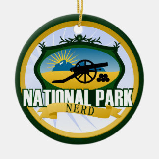 National Park - Battlefield Double-Sided Ceramic Round Christmas Ornament