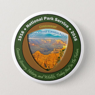 National Park Centennial Button Grand Canyon 3 In