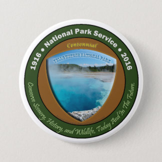 National Park Centennial Button Yellowstone 3 In