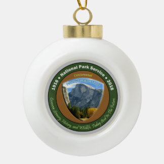 National Park Centennial Christmas Half Dome Ceramic Ball Christmas Ornament