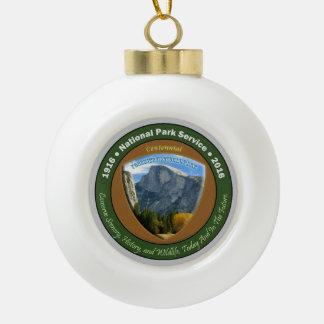 National Park Centennial Christmas Half Dome Ceramic Ball Christmas Ornament
