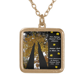 National Park Centennial Hot Springs Autumn Gold Gold Plated Necklace