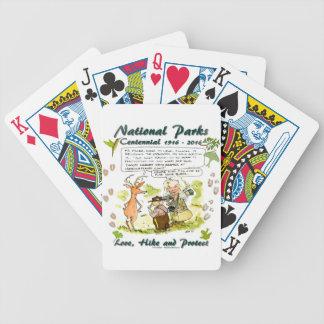 National Park Centennial Photographer Cartoon Bicycle Playing Cards