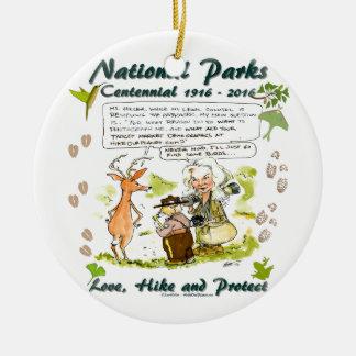 National Park Centennial Photographer Cartoon Ceramic Ornament
