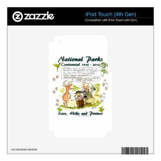 National Park Centennial Photographer Cartoon Decal For iPod Touch 4G