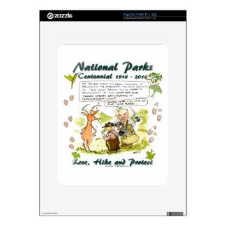 National Park Centennial Photographer Cartoon Decals For iPad