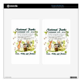 National Park Centennial Photographer Cartoon Decals For Kindle Fire