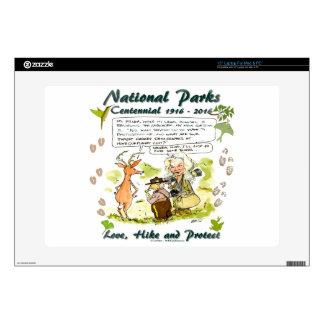 National Park Centennial Photographer Cartoon Decals For Laptops