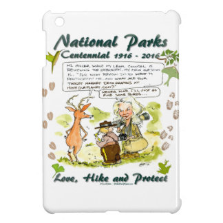 National Park Centennial Photographer Cartoon iPad Mini Cover