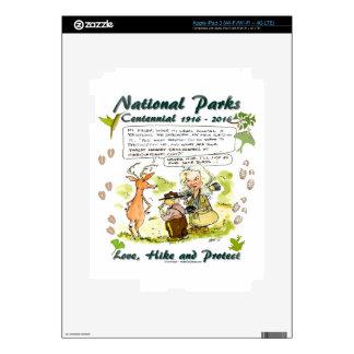 National Park Centennial Photographer Cartoon Skin For iPad 3