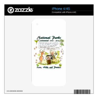 National Park Centennial Photographer Cartoon Skin For The iPhone 4S