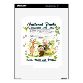 National Park Centennial Photographer Cartoon Skins For iPad 2