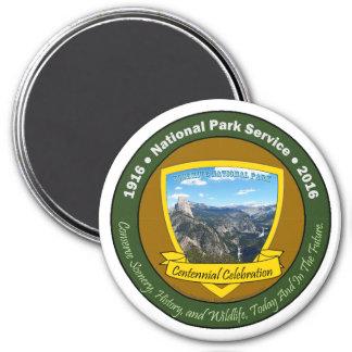 National Park Centennial Round Magnet - Yosemite
