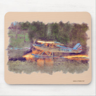 National Park Float Plane Taking-off from Lake Mouse Pad