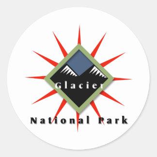 National Park, Glacier Classic Round Sticker