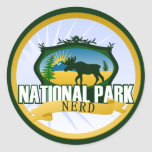 National Park Nerd - Woodland Classic Round Sticker