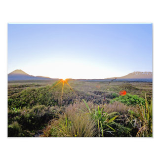 National Park NZ Sunrise Photo Print