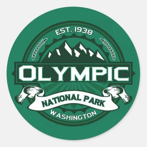 National Park Round Stickers